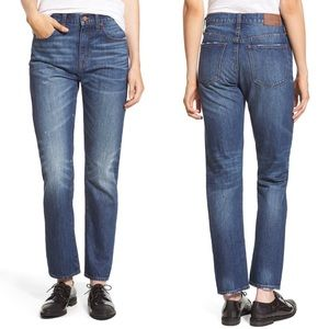 Madewell Crop Straight Leg high rise jeans
